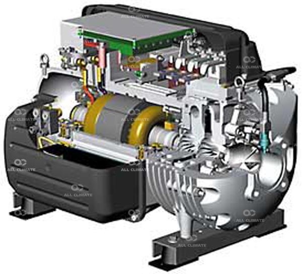 Схема типичного центробежного компрессора.  Если же остановится на многоступенчатых центробежных компрессорах, то...